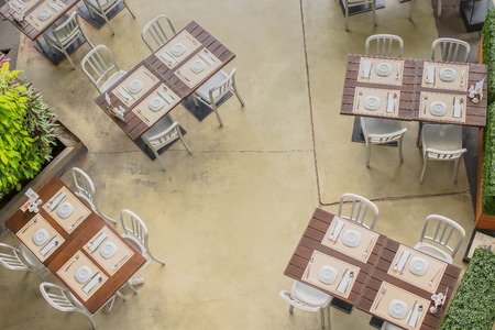 dinning table: dinning table and chairs from top view
