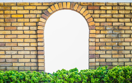 panes: Old Brick Wall with White Window