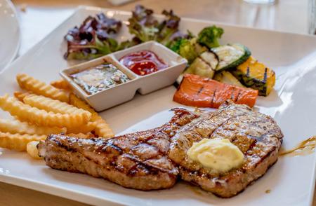 grilled pork chop: juicy grilled pork chop