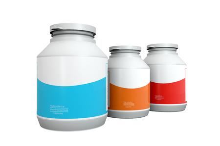 medicine bottles: Three Medicine bottles on white background