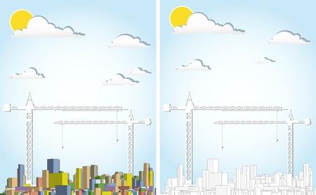 housing development: vector cityscape