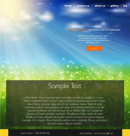 user friendly: Website business background, nature design