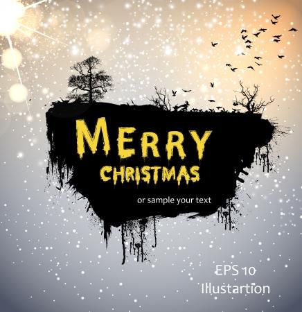 Christmas Grunge Greeting Card