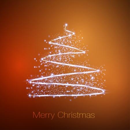 Merry christmas tree Illustration