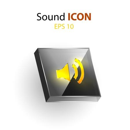 Speaker Icon, light concept Illustration