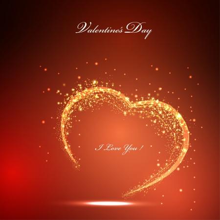 valentines light card Illustration