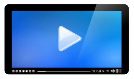 mov: Video player, easy editable  Illustration
