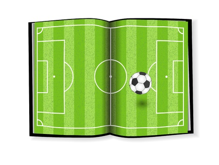 Soccer field, book design Vector
