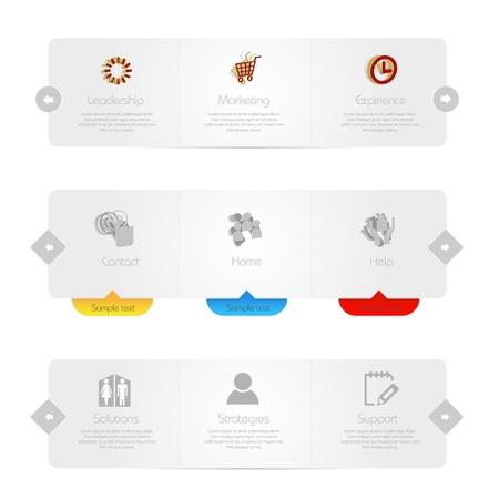 Web Menu template  Illustration