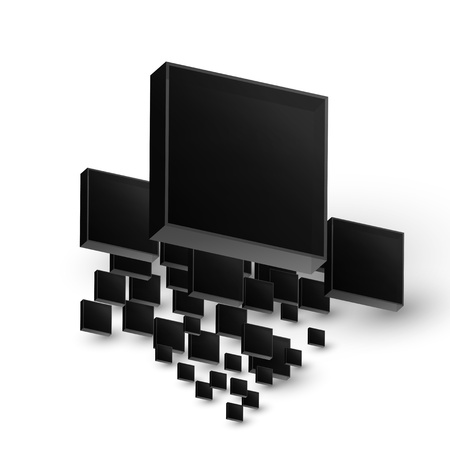 Cube background concep Stock Vector - 16658375