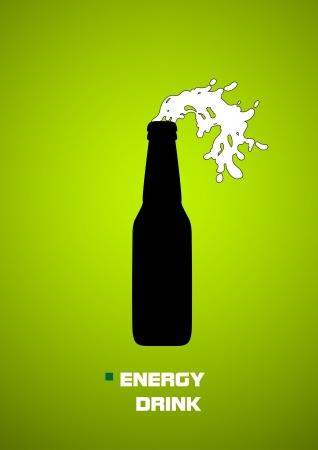 fresh drink banner Illustration