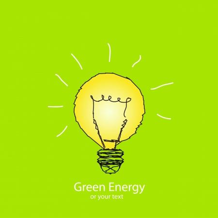 Bulb light energy illustration