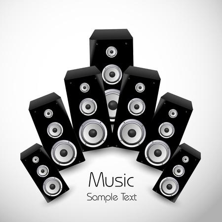 music dj: Music card design Illustration