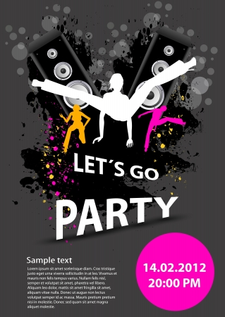 Party design template, easy editable Vector