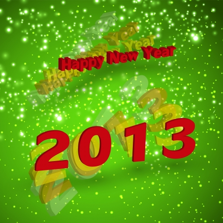 2013 Happy New Year card Stock Vector - 16800999