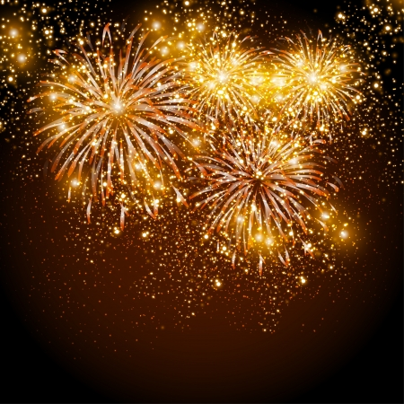 Happy New Year fireworks background Illustration