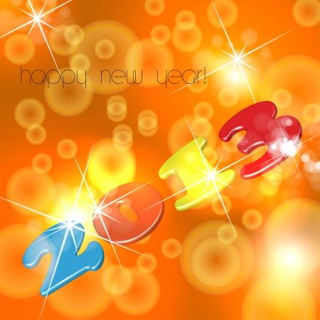 New Year card Stock Vector - 16800984