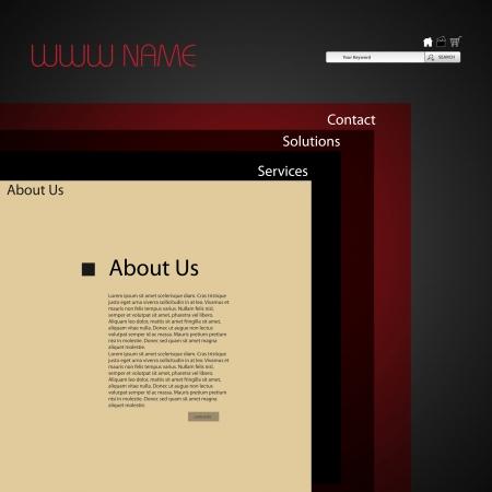 web site design template: web site design template Illustration