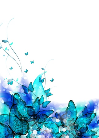 Color vector background or card with butterfly