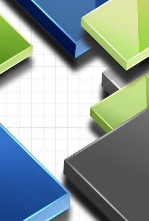 Business modern vector background, easy editable