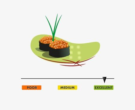 rating meter: Food rating meter, Vector