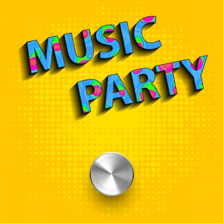 fryer: Music party concept poster, you can easy editable Illustration