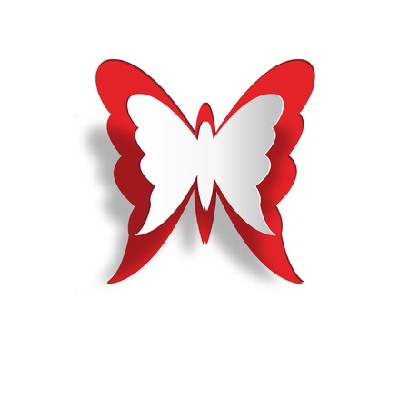 Paper butterfly, easy all editable   Illustration