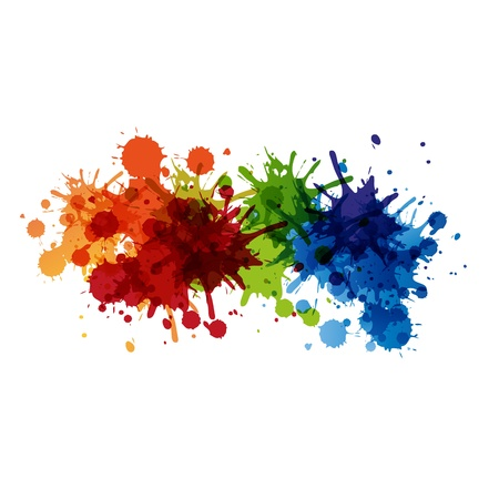 coloured background: Vector paint background design, easy editable
