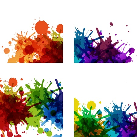 coloured background: Dirty paint background, easy editable
