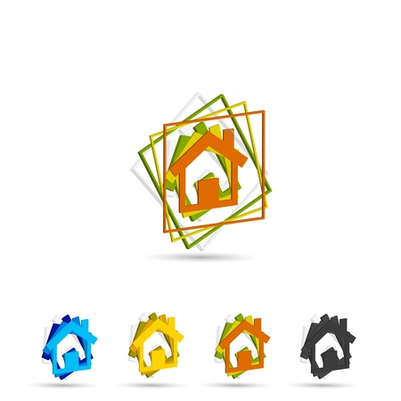 exterior element: set of vector home icon