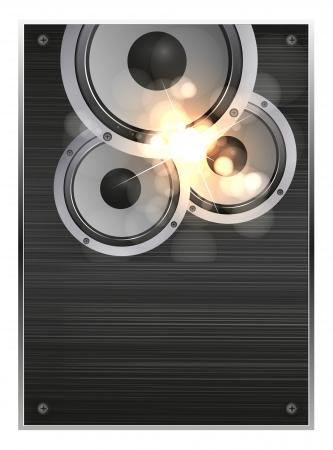 dance shadow: Audio speaker vector illustration, easy editable