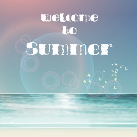 summer typography template Vector