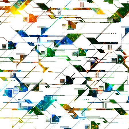 technology background, easy editable Illustration