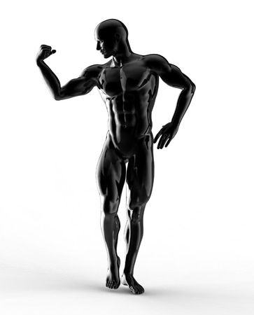 render of bodybuilder  photo