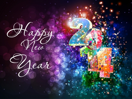Happy New Year vector celebration background, easy editable Illustration