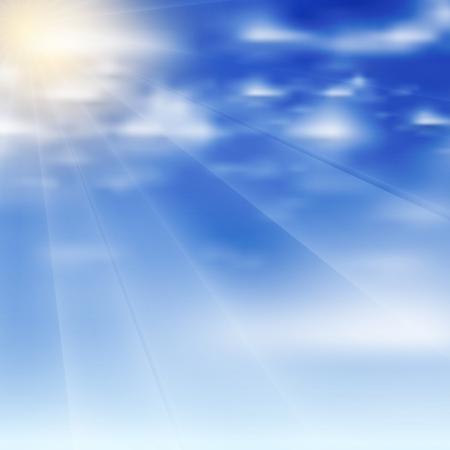 Beautiful vector clouds Illustration