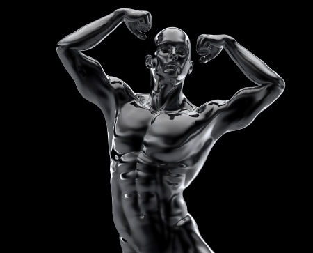 bodybuilder statue photo