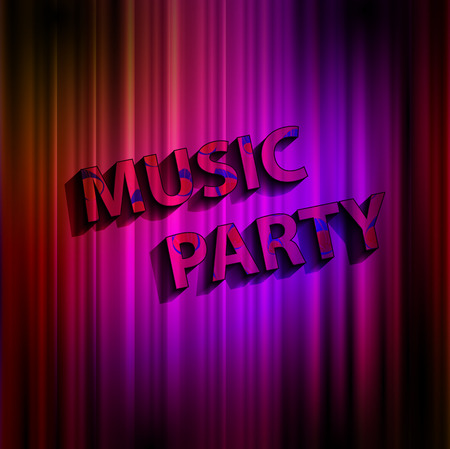 Music party concept poster