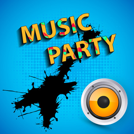 neon party: music party poster