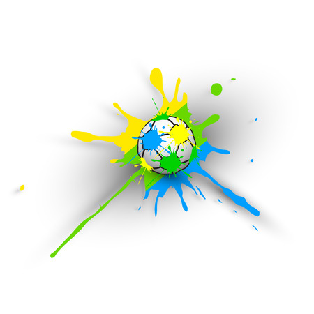 Brazil Vector Background With Ball Vector