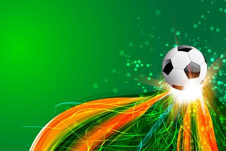 bannière football: Brésil fond avec le ballon et de la lumière
