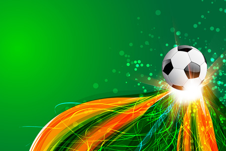 world cup: Brazil Background With Ball and light Illustration