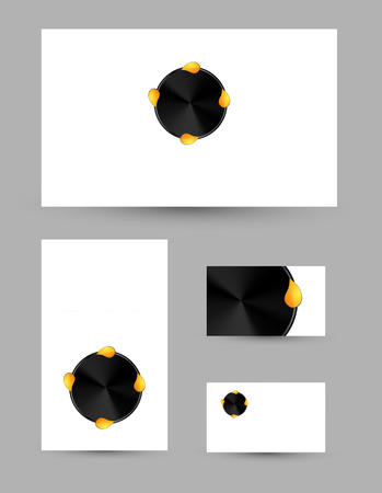 Abstract creative modern business cards