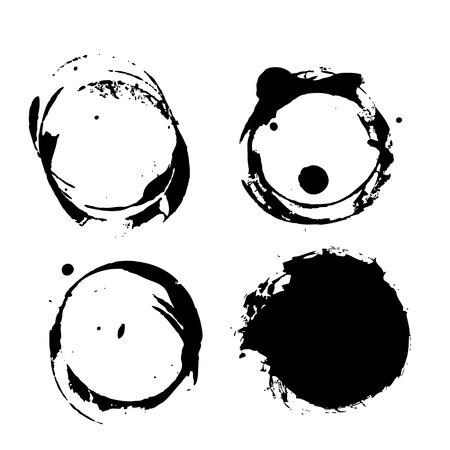 Grunge coffee splashes and blots prints