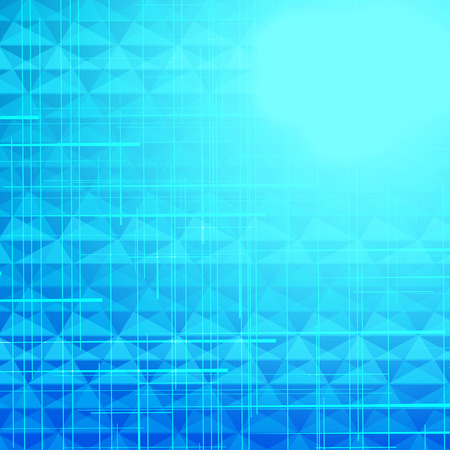 hi tech background: triangles blue background with lines, easy all editable