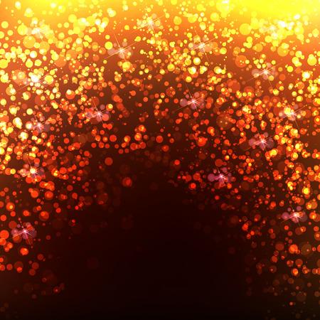 glam: Gold Bokeh Background, easy editable