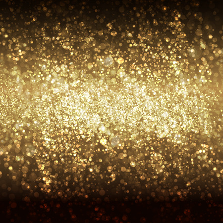 gold design: Festive Christmas and New Year bokeh background, easy all editable Illustration