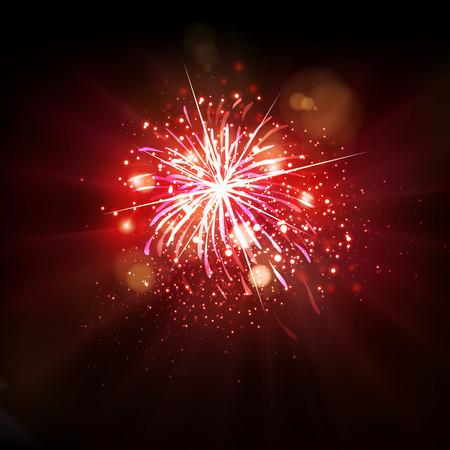 celebration party: Party celebration background fireworks Illustration