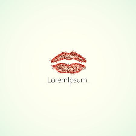 lip: illustration lips logo easy editable