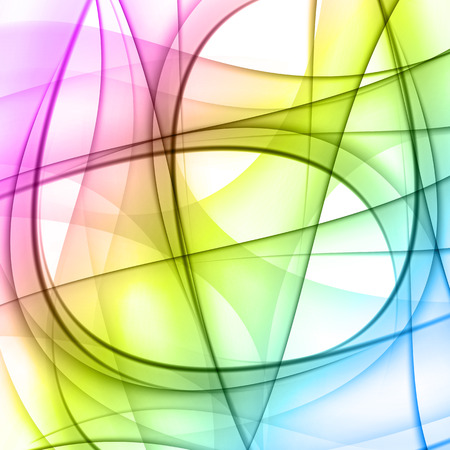 Colorful smooth lines vector background easy editable